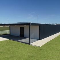 Cloakroom of the municipal football stadium - Boissise-Le-Roi